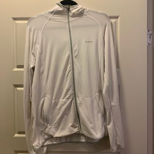 Columbia jacket white large Omni-wick
